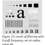 Figure 13: result of filtering with Cutoff frequency set at radius value 60