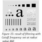 Figure 15: result of filtering with Cutoff frequency set at radius value 460