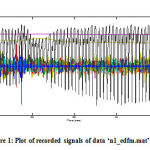 Figure 1 Plot of recorded signals of data 'n1_edfm.mat'.