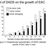 Figure 5: Intraperitoneal administration of DADS retarded the growth of EAC cells in mice.