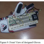 Figure 9: Front View of designed Gloves.