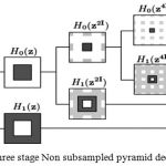 Figure 1: Three stage decomposition using Non sub sampled pyramid.
