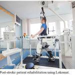 Figure 4: Post-stroke patient rehabilitation using Lokomat.